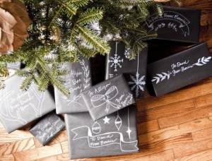 chalk board wrapping